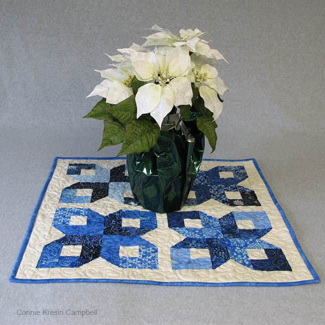 Batik Table Topper for Winter Wonderland Island Batik