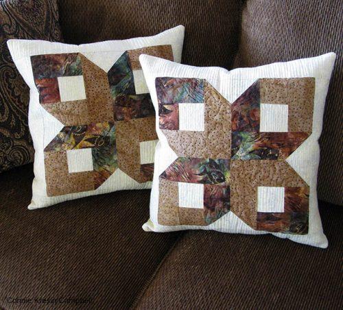 Box Batik Pillows on sofa