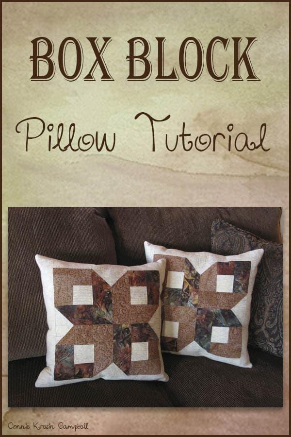Box Block Pillow tutorial