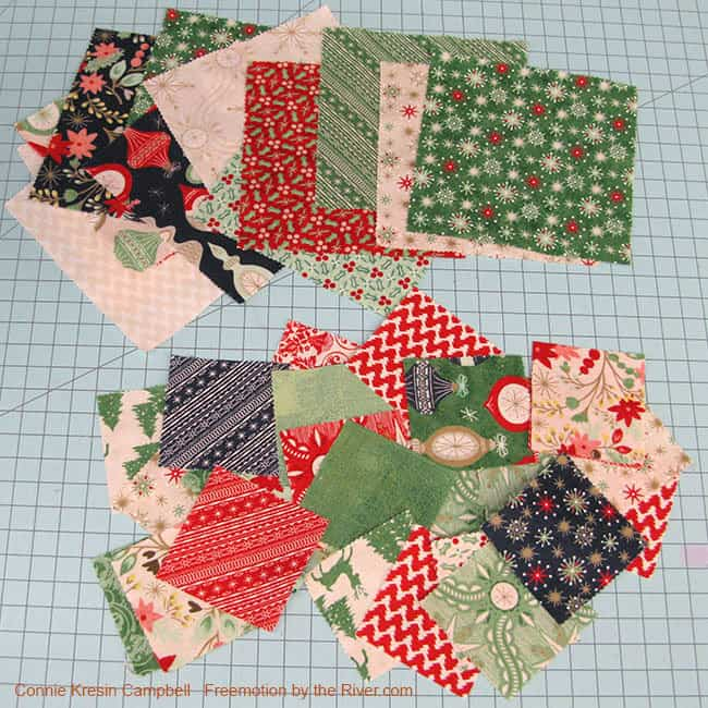 25th and Pine Charm Pack Christmas fabrics