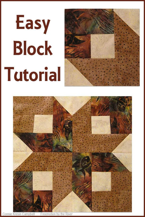 Easy quilt block tutorial