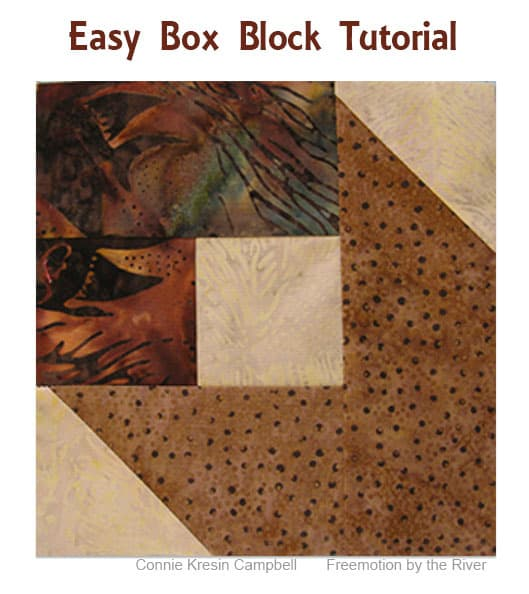 Easy Box Quilt Block tutorial