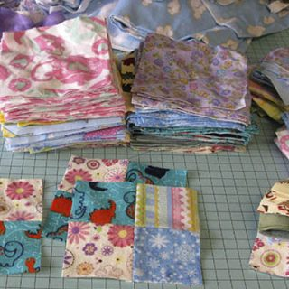 Flannel Scraps to blocks