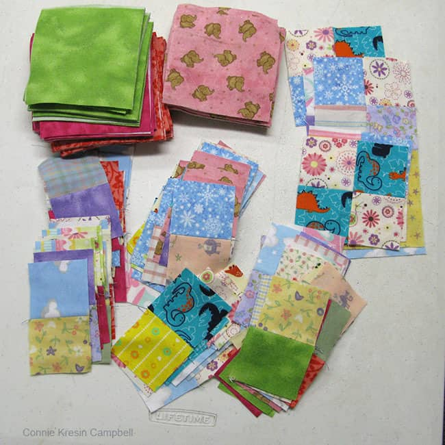 Flannel scraps for Leaders and Enders