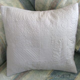 Freemotion quilted pillow sampler