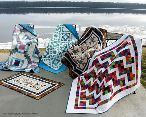 Quilts made with beautiful Island Batik fabrics