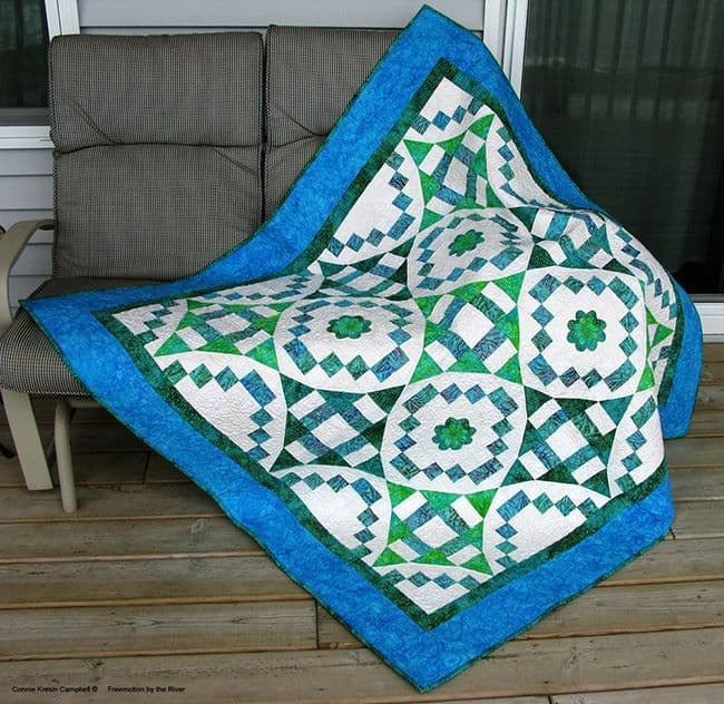 River Swirls Quilt Pattern by Connie Kresin Campbell