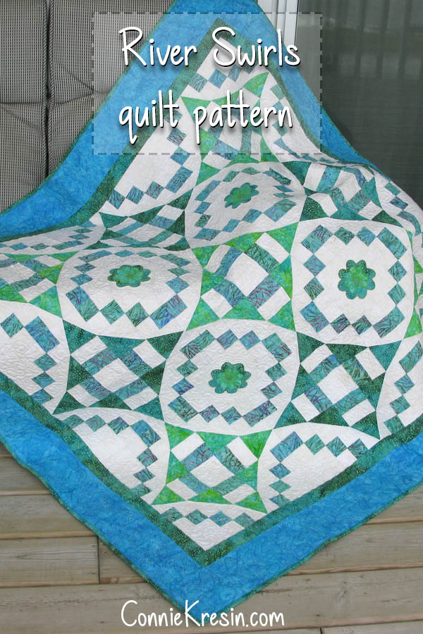 River Swirls quilt pattern