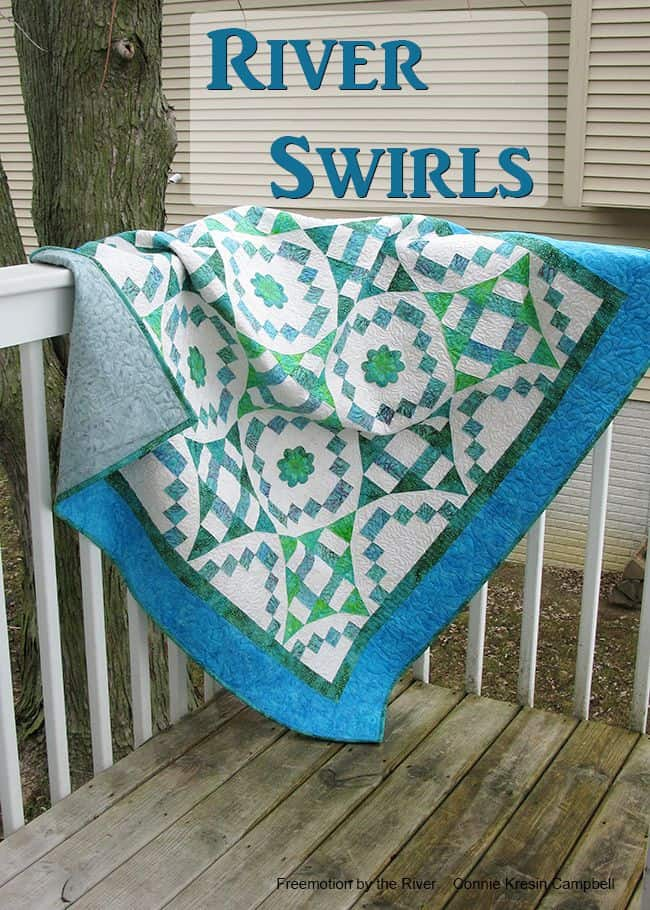 River Swirls quilt pattern cover