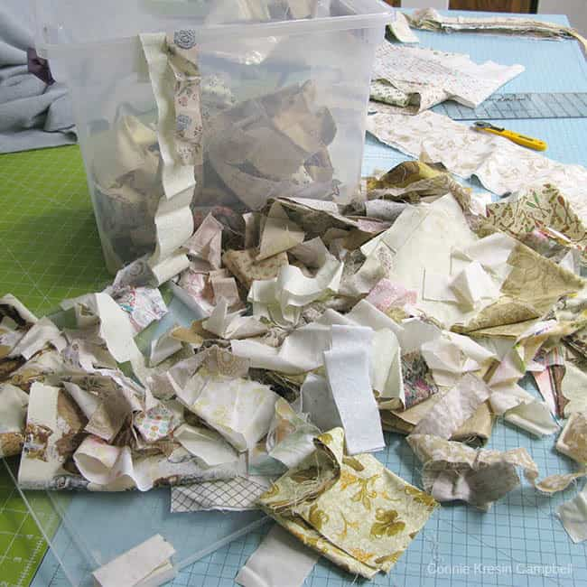 Neutral Scraps for quilts