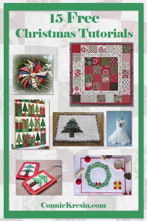 Over 15 different Christmas quilt tutorials