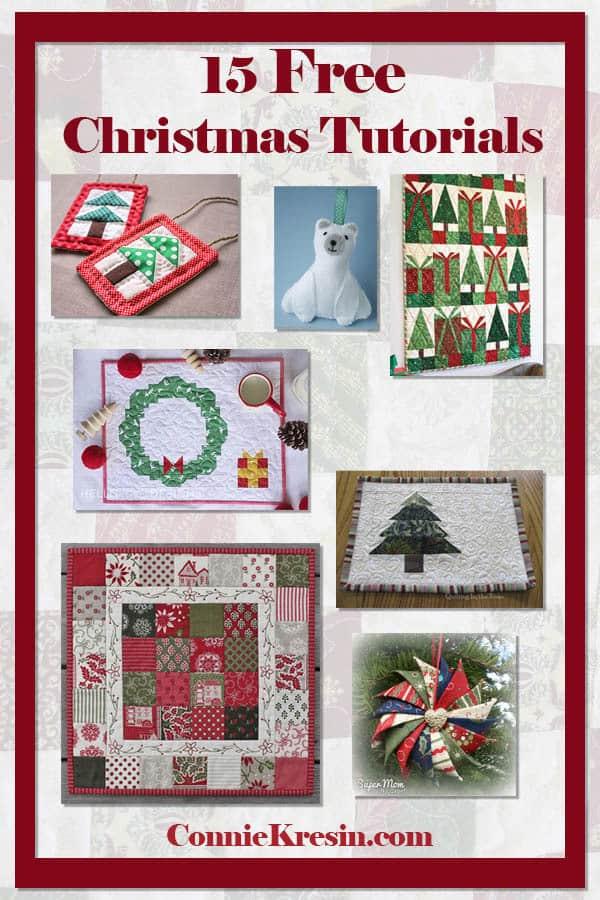 15 free Christmas quilt tutorials!