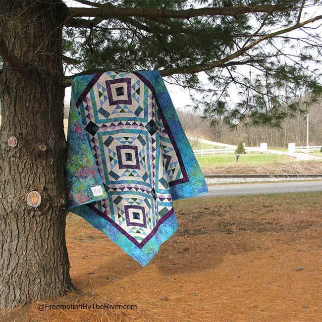 Affinity batik quilt at park