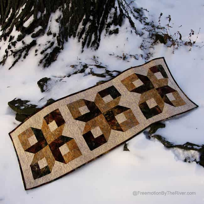 Box Table Runner in the Snow