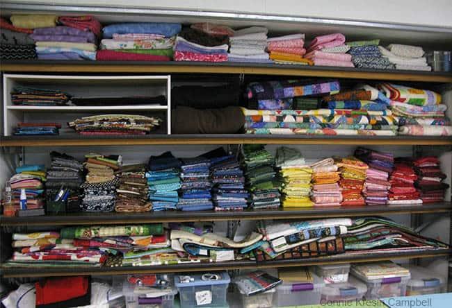 Organizing fabric stash