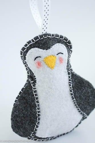 DIY Penguin Christmas Ornament