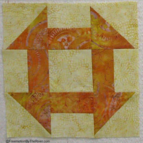 Solstice Challenge Churn Dash Quilt Block