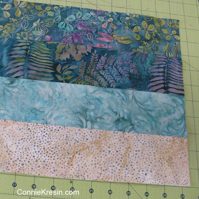 Batik teal table topper fabrics