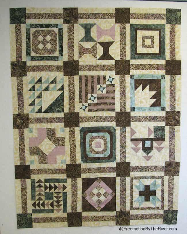 Aurifill sampler quilt