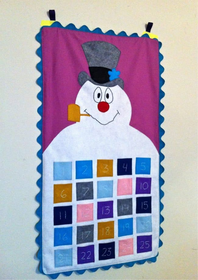 frosty advent calendar free pattern