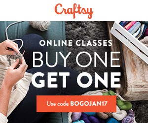 Craftsy Classes buy one get one free