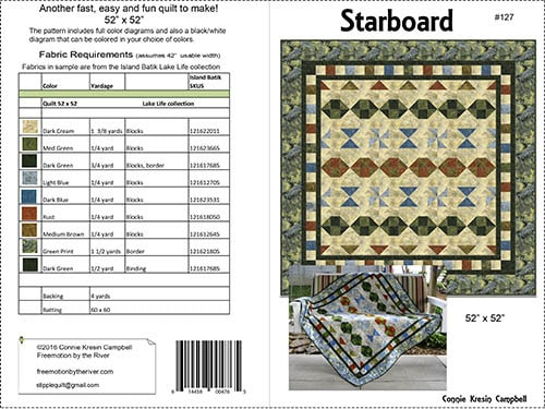 Starboard Quilt Pattern Cover