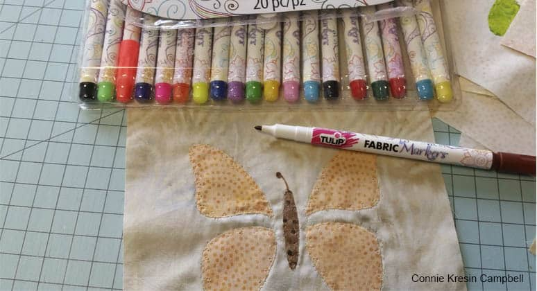 Fabric Pens used on applique blocks