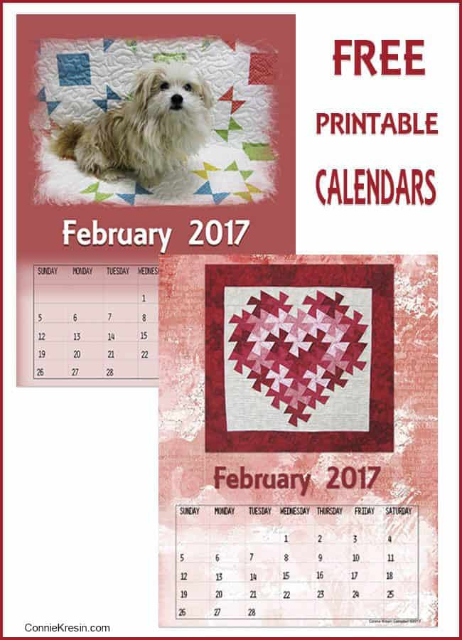February Free Printable Calendars - ConnieKresin.com