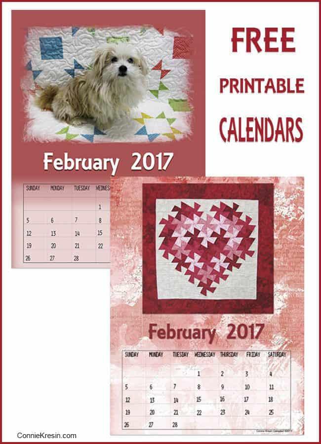 February Free Printable Calendars - ConnieKresin.com