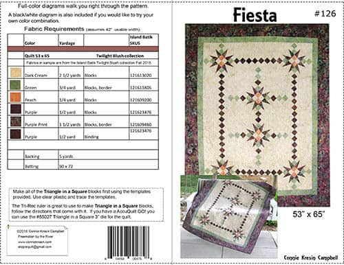 Fiesta beautiful quilt pattern in batiks