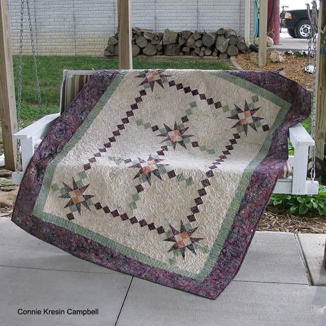 Fiesta beautiful quilt pattern in batiks