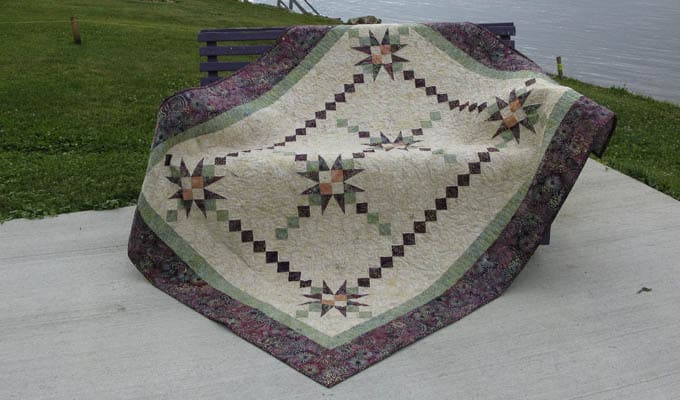 Fiesta quilt pattern by the river - ConnieKresin.com