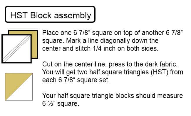 How to cut the HST squares