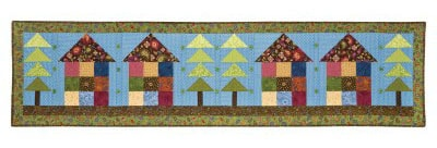 House Bed Runner free pattern