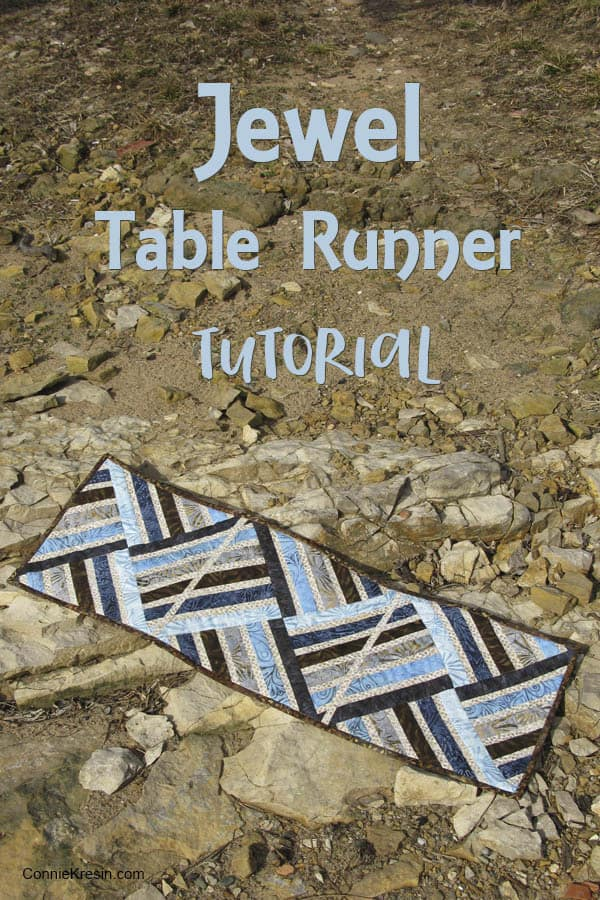 Jewel table runner tutorial at Freemotion by the River