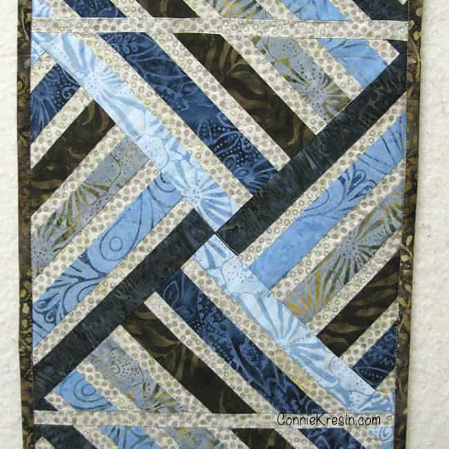 Jewel table runner with minimal quilting on it