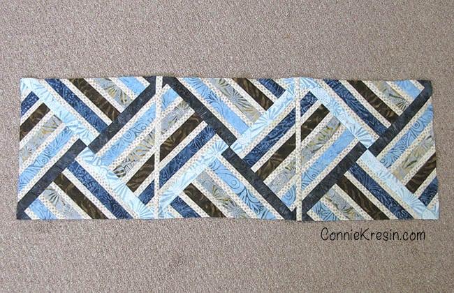 Jewel table runner sew blocks together