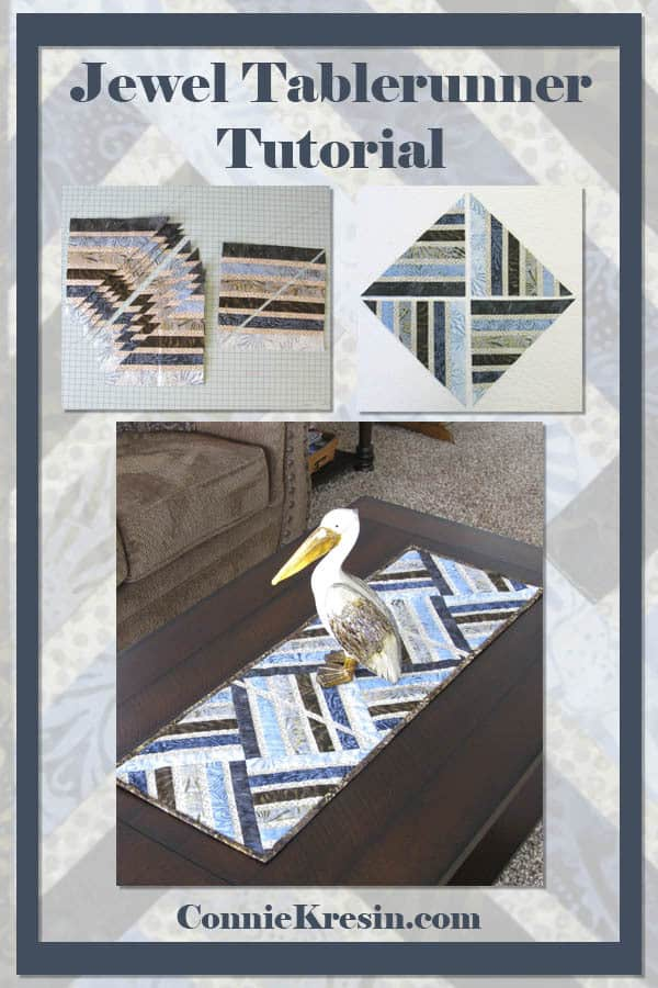 Jewel Batik table runner tutorial and create your own fabric and make this easy quilt project