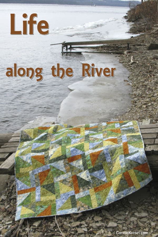 Lake Life quilt along the river