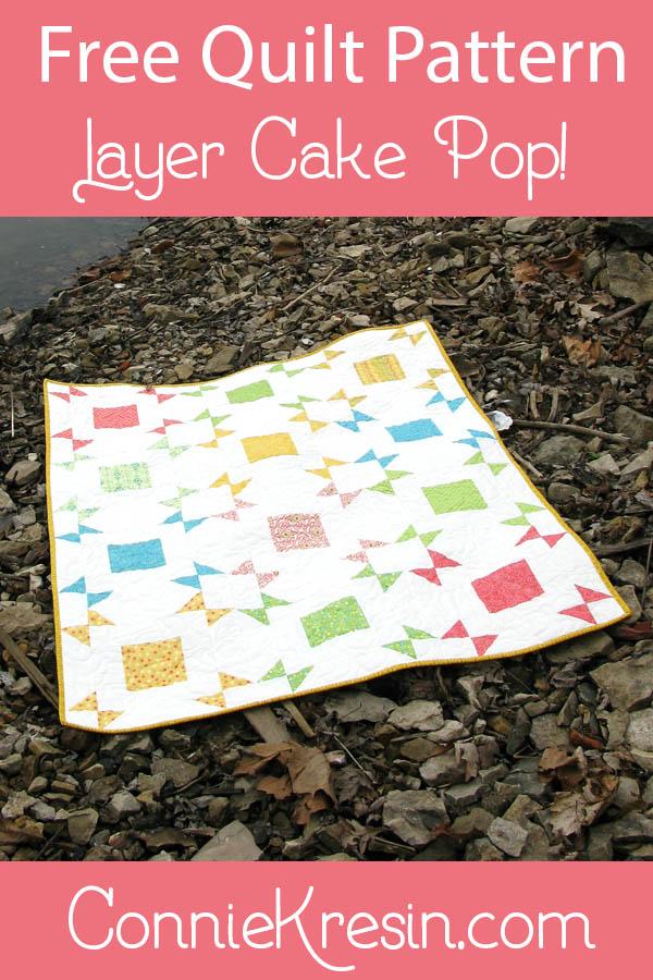 Free Quilt pattern Layer Cake Pop