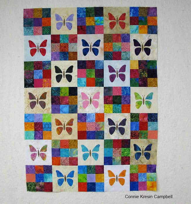 Scrappy Butterfly Baby Quilt tutorial