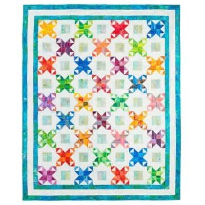 Free quilt pattern Star Surprise Throw