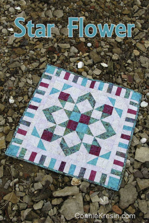 Coastal Mist Blog Hop and Star Flower from Island Batik