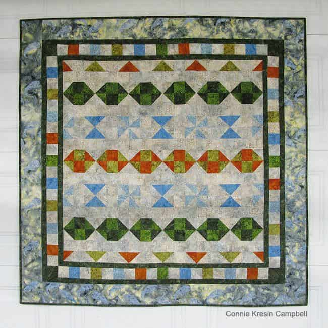 Starboard Quilt Pattern on Wall