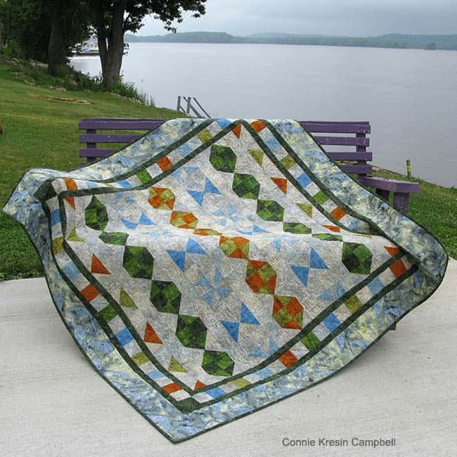 Starboard Quilt Pattern by the river