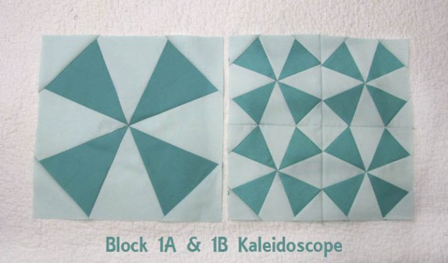 Bella Skill Builder Quilt Block 1 Kaleidoscope block
