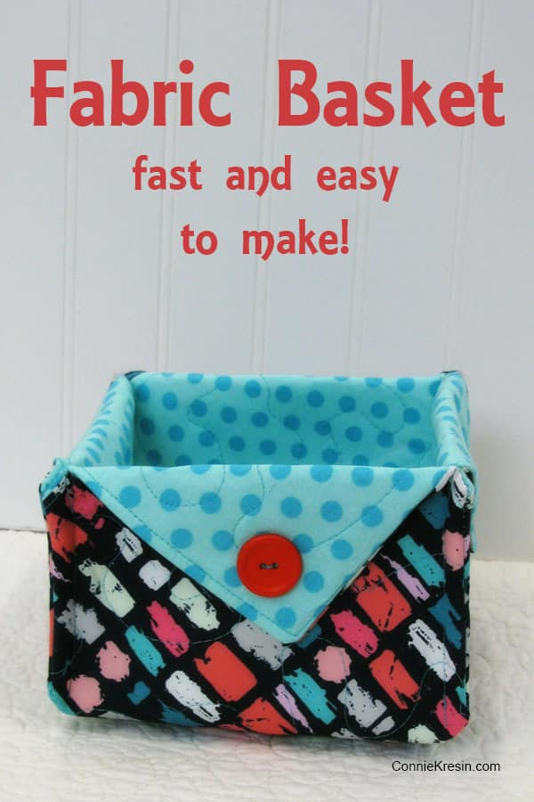 Fast and easy Fabric Basket