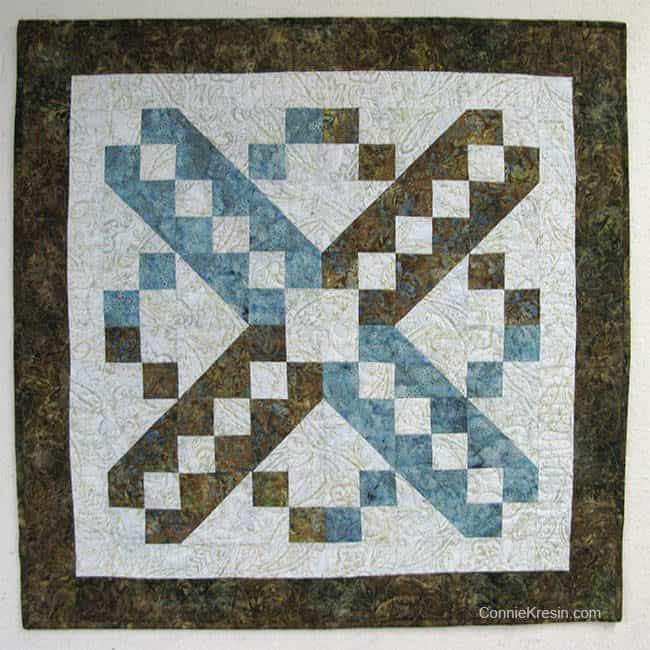 Jacobs Ladder Free Quilt Pattern design wall