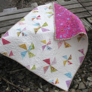 Twirling Stars Baby Quilt