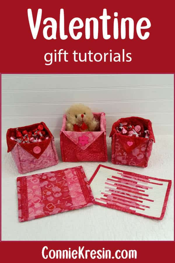 Valentine mug rug and basket tutorials
